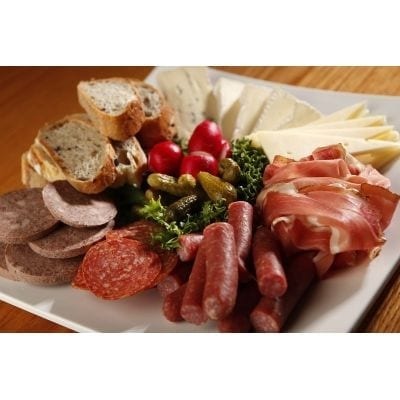 Assorted cold cut & cheese platter