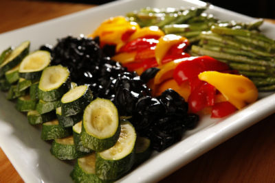 Grilled vegetable antipasto plate