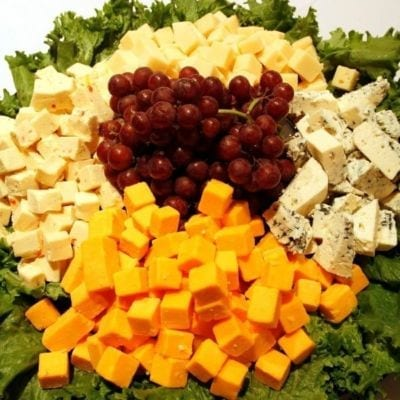 Assorted cheeses with crackers & flatbreads