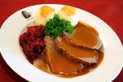 Traditional German sauerbraten