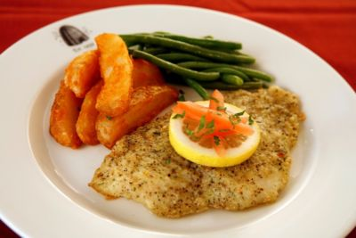 Roasted tilapia fillet